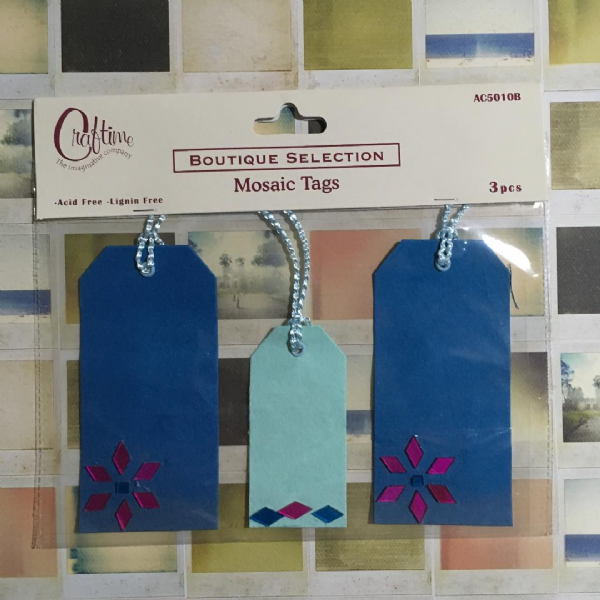Craftime Mosaic Tags Blue